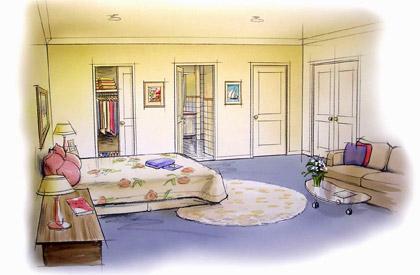 Bedroom on Bedroom Illustration