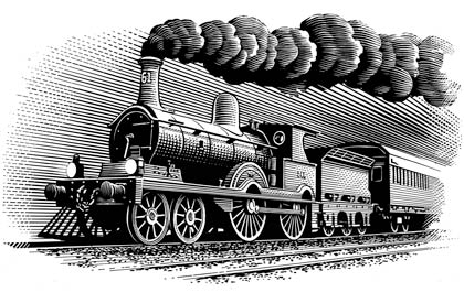 how to draw a old train